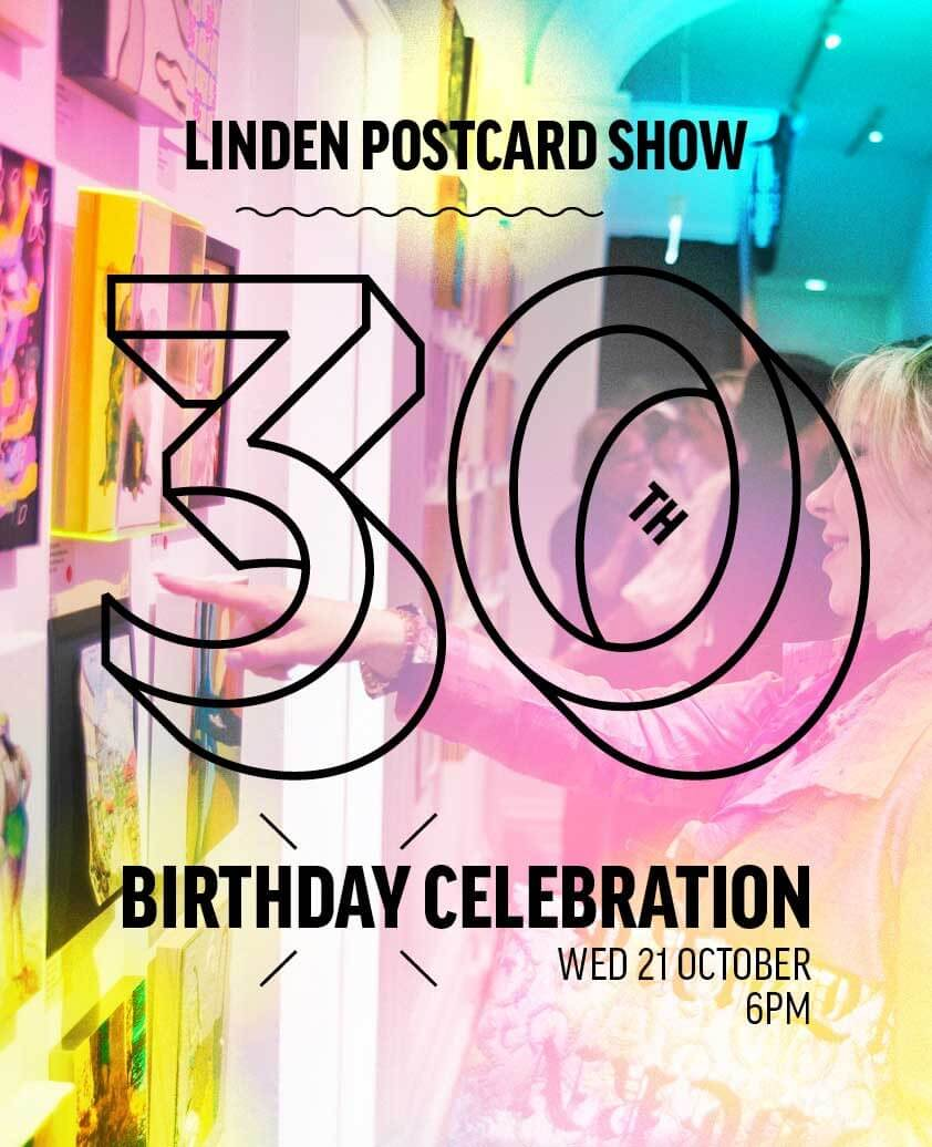 Linden Postcard Show 30th Birthday Celebration