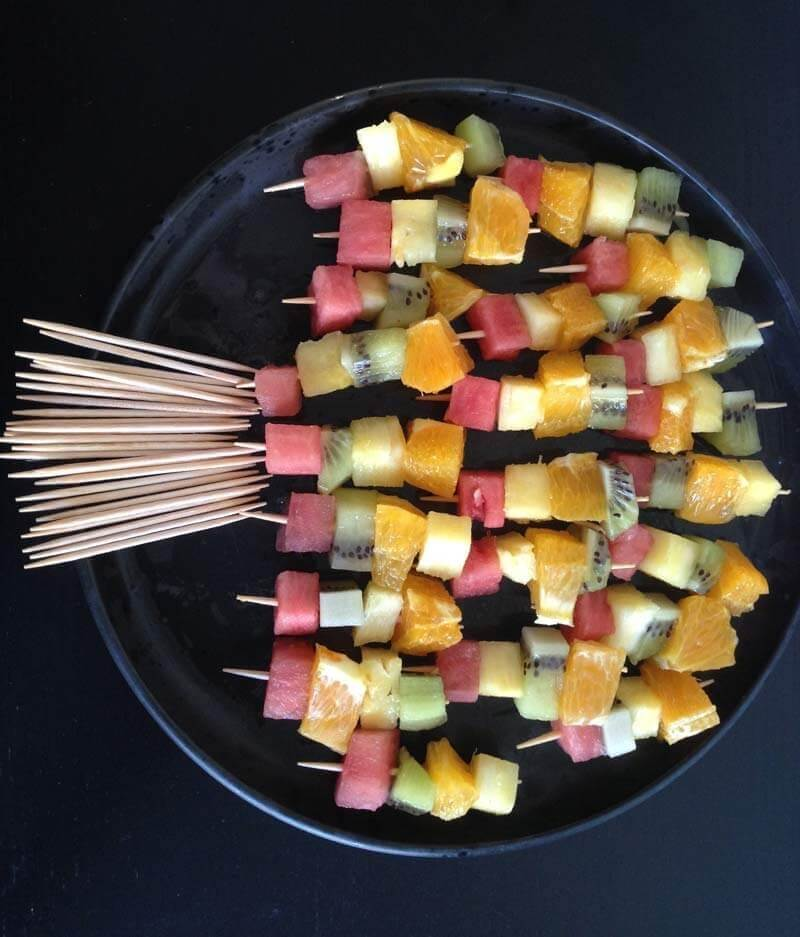 Mini Rainbow Skewers